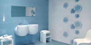 Piastrelle rivestimento bagno Love by Panaria Cielo 22,5x45 azzurro  eBay