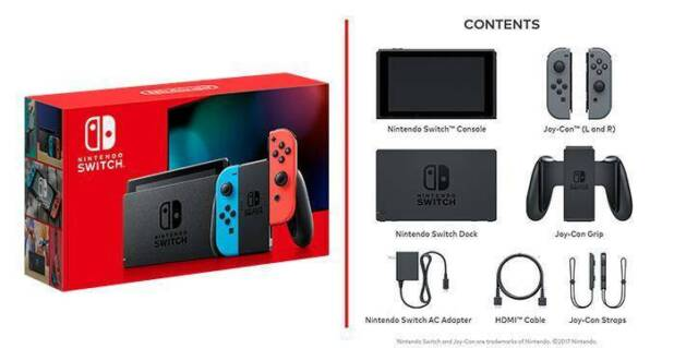 Brand New Nintendo Switch Console Neon Animal Crossing Game Card