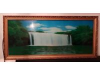 Lighted motion waterfall picture 95cm x 43cm