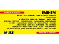2 Tickets for Leeds Festival featuring Eminem