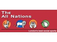 Ladies Netball Teams & Individual Players wanted to join the All Nations Southfields/Wimbledon