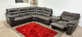 DFS - L-Shape Corner Sofa With Electric Recliner Armchair