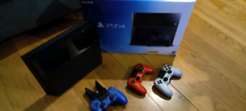 PS4 500gb + 3 controllers + 5 games. Comes with original box!