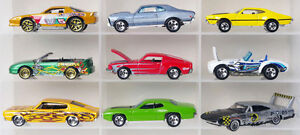 Lot of 9 muscle car Hot Wheels diecast cars 1:64