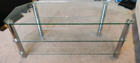 Glass and chrome style TV Stand