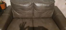 Comfy brown sofas