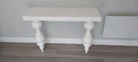 Habitat gloss white feature shelf/ sideboard