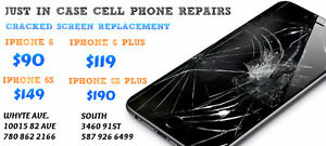 IPHONE 6 $90 6+ $119 6S $149 6S+ $190 CRACKED SCREEN REPAIR