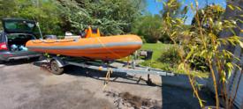 4.7m rib boat Craft Espace 40hp Tohatsu and trailer