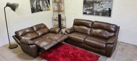 Harvey's- 3&2 Seater Leather Recliner Sofa Set