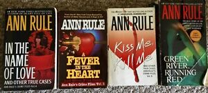4 Ann Rule True Crime novels for sale