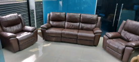 Used Brown Electric Recliner Sofa Set Free local delivery