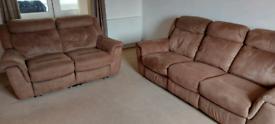 3+2 seat manual recliner sofas