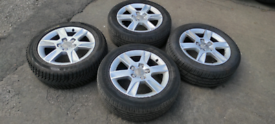 AUDI ALLOY WHEELS 16 INCH WITH TYRES