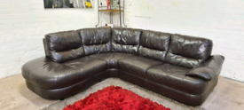 DFS - Italian Leather L-Shape Corner Sofa