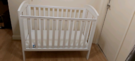 White Baby Cot # like new#