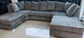 Grey U Shape 7 Seater Corner Sofa New free local delivery