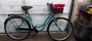 Dutch style stepthrough town bike