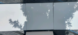 14 boxes MATT WHITE TILES