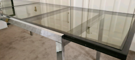Vintage Designer Smoked Glass Dining Table