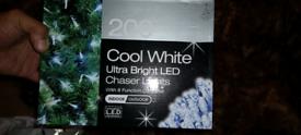 Xmas lights plus 6ft black slim tree