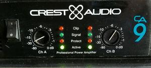 USAGÉ* Amplificateur Crest CA9 - 2 disponibles - TRÈS propre