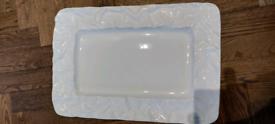 Lovely white platter dish VGC