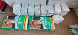 Size 4, 4+ and 5 nappies