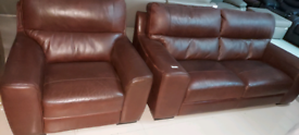 3 seater and single Armchair Real Italian leather