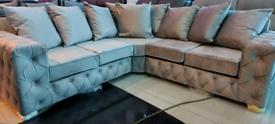 Light or Darker grey Corner Sofas brand new free local delivery