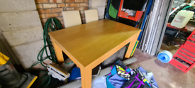 Light oak Dinning table and 4 high back chairs