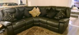 Recliner corner sofas