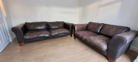 Brown DFS Sofa Set