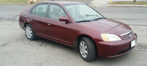 2003 Honda Civic, Mint Condition, No Rust, Low Km, For Sale