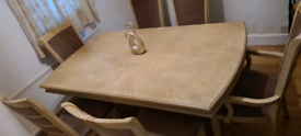 Solid Dining Table + 6 Chairs