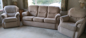 G-Plan Oatmeal Three Piece Suite
