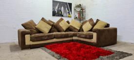 Designer Suede Fabric L-Shape Corner Sofa