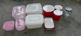Plastic storage boxes/containers