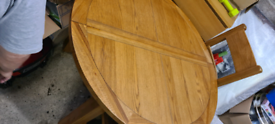 Table and chairs full oak furniture set