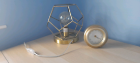 Geometric Table Lamp AND Clock . VERY LOCAL Delivery Possible