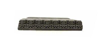 Antique Bunta Stamped Wood Printing Fabric Textile Batik Rajasthan India D9 M