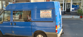 Delivery and house removals white van man