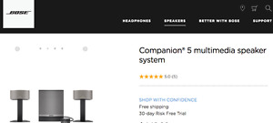 BOSE Companion 5 Multi Media Speaker System