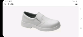 WHITE SLIP ON MEDICAL SAFETY SHOES