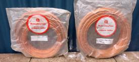 Copper tubing.