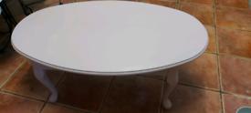 Dusky pink coffee table