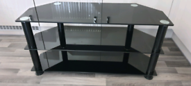 TV Stand, Black Gloss with shelves