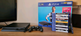 Sony PlayStation 4 Slim with 14 Games - 500GB - Jet Black Console