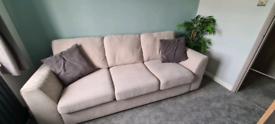 3 seat beige sofa - £150