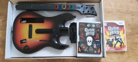 Guitar Hero 4 world tour Wii Guitar and Game